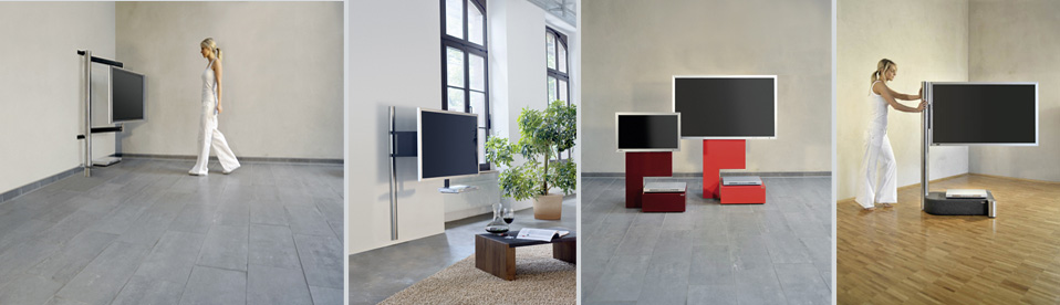 tv die besondere art von tv haltern von wissmann raumobjekte. Black Bedroom Furniture Sets. Home Design Ideas